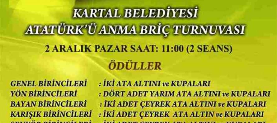 Kartal Belediyesi Atatürk'ü Anma Briç Turnuvası
