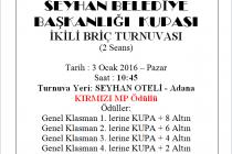 Seyhan Belediyesi Briç turnuvası