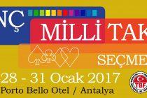 Genç Milli Takım Seçmeleri Antalya'da Yapılacaktır