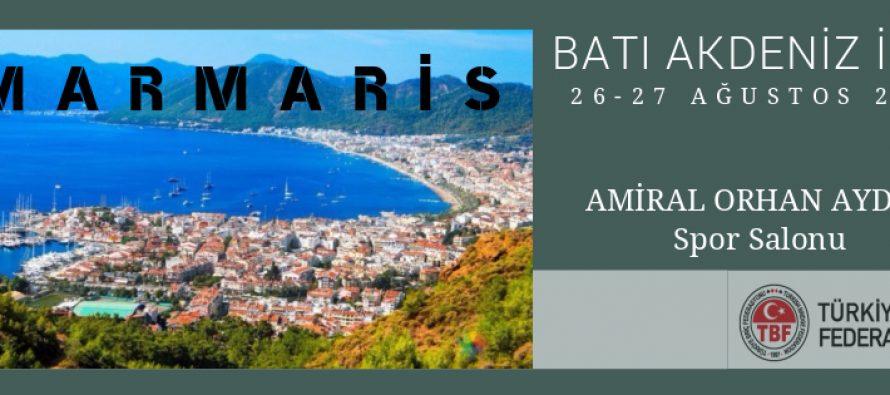 Batı Akdeniz İkili Şampiyonası Marmaris'te Yapılacaktır