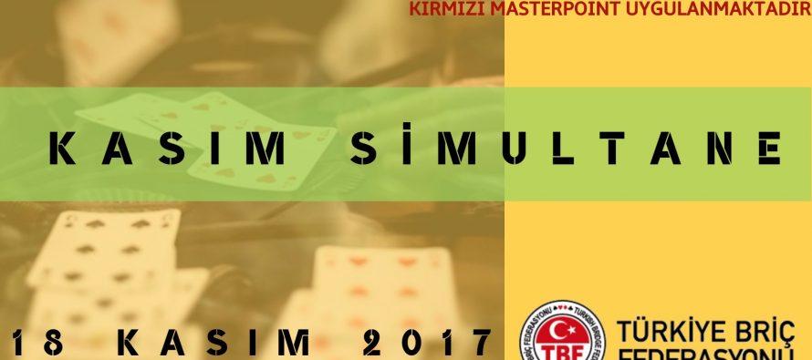 Kasım Ayı Simultane Briç Turnuvası
