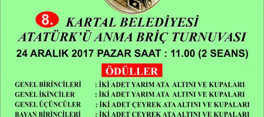Atatürk'ü Anma Briç Turnuvası